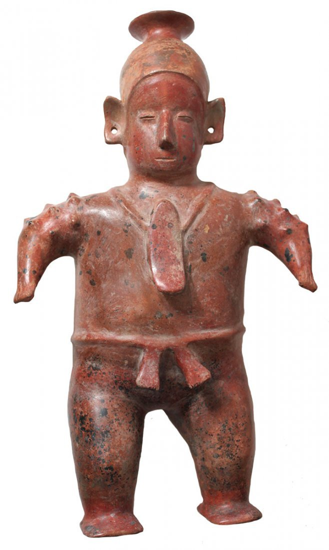 "17 3/4"" Standing Male Figure.  Large ceramic effigy."