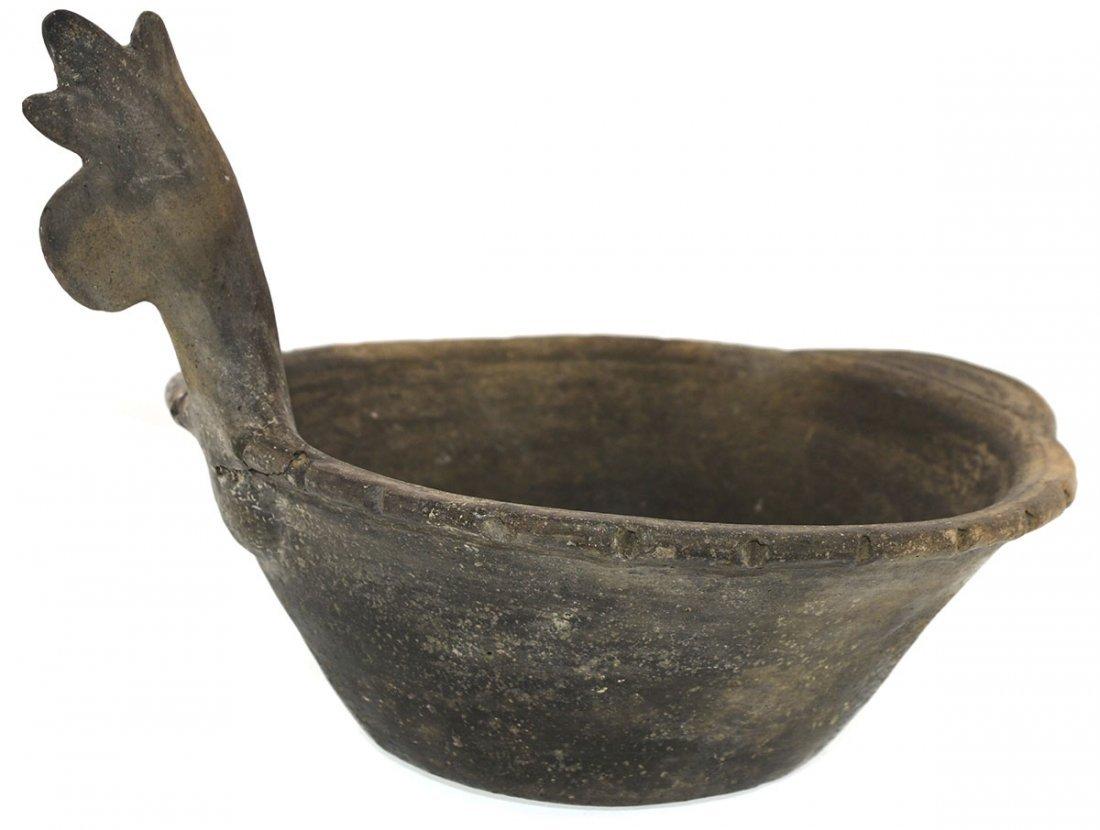 "10 5/8"" D.  Mace Effigy Bowl.  AR.  Rare type.  Solid - 3"
