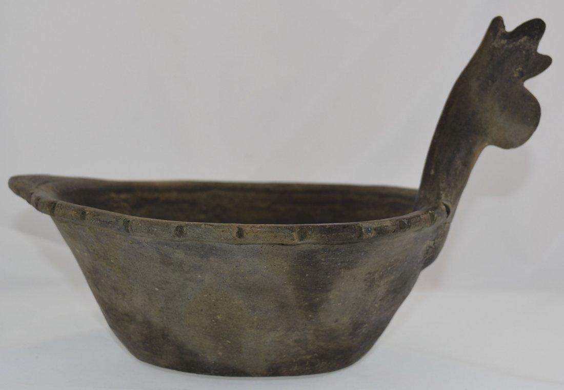"10 5/8"" D.  Mace Effigy Bowl.  AR.  Rare type.  Solid - 4"