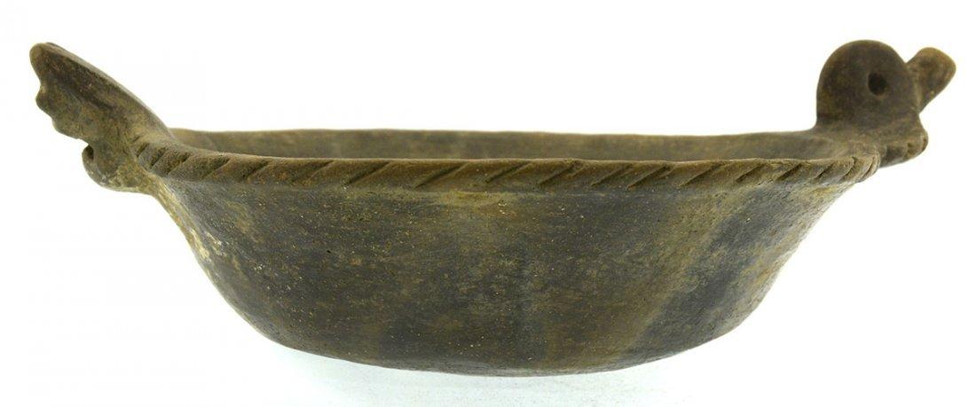 "10 5/8"" Cat Serpent Rim Effigy Bowl.  AR.  Highly - 3"
