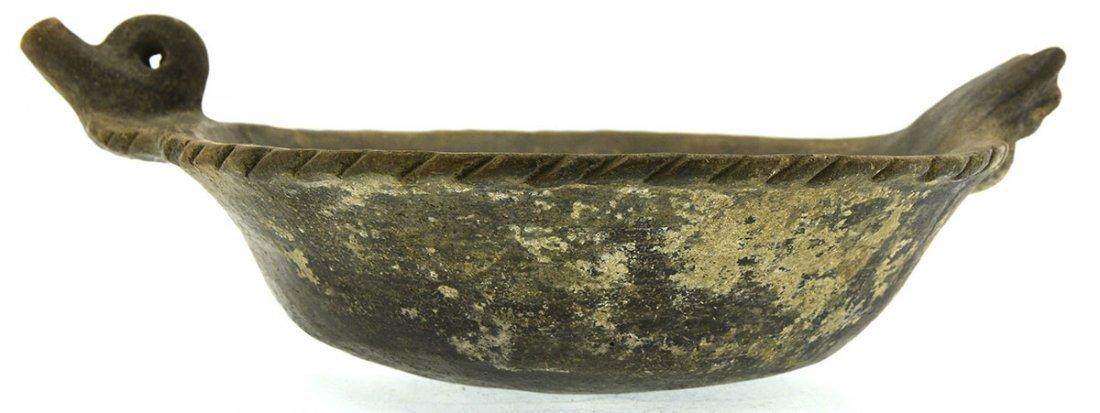 "10 5/8"" Cat Serpent Rim Effigy Bowl.  AR.  Highly - 4"
