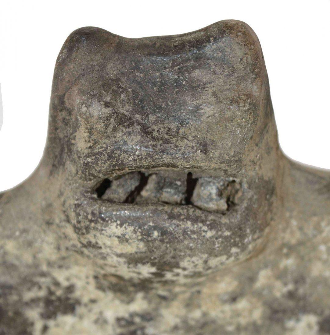"10 5/8"" Cat Serpent Rim Effigy Bowl.  AR.  Highly - 5"