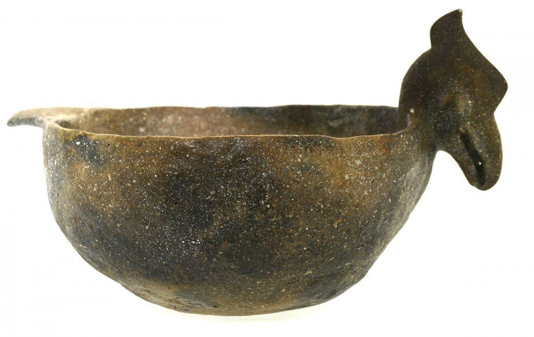 "8 7/8"" D. Rim Effigy (Bird) Bowl.  Solid bowl. - 3"