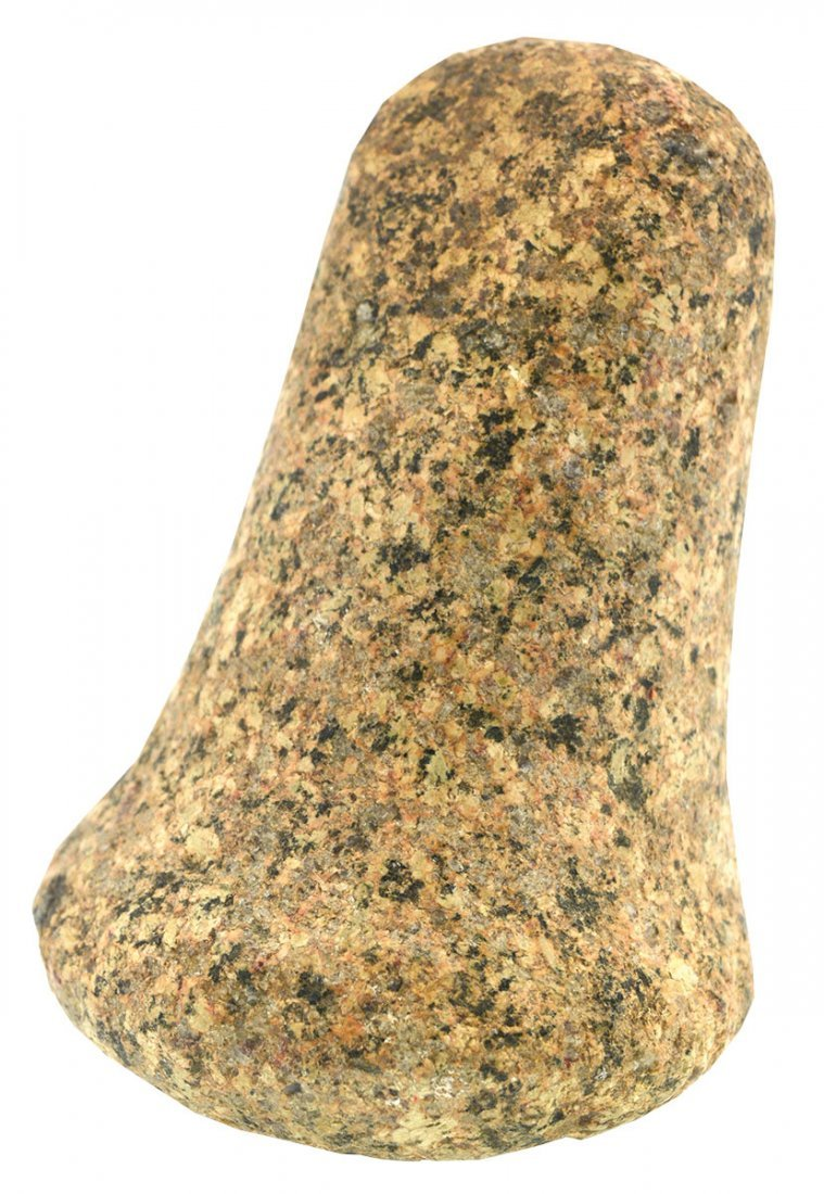 "4 1/2"" Flared Base Pestle.  OH.  Granite.  Good"