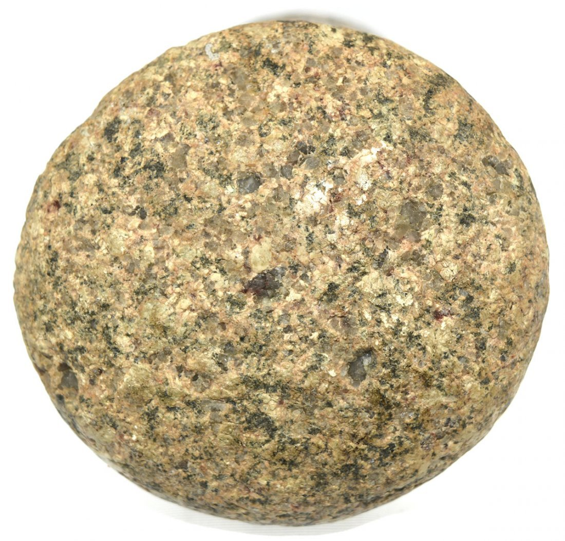 "4 1/2"" Flared Base Pestle.  OH.  Granite.  Good - 3"