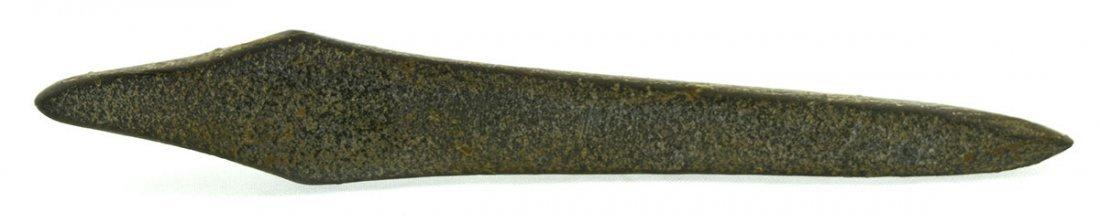 "5"" Hardstone Lizard Effigy.  Davis G8 COA.  Eastern TN. - 3"