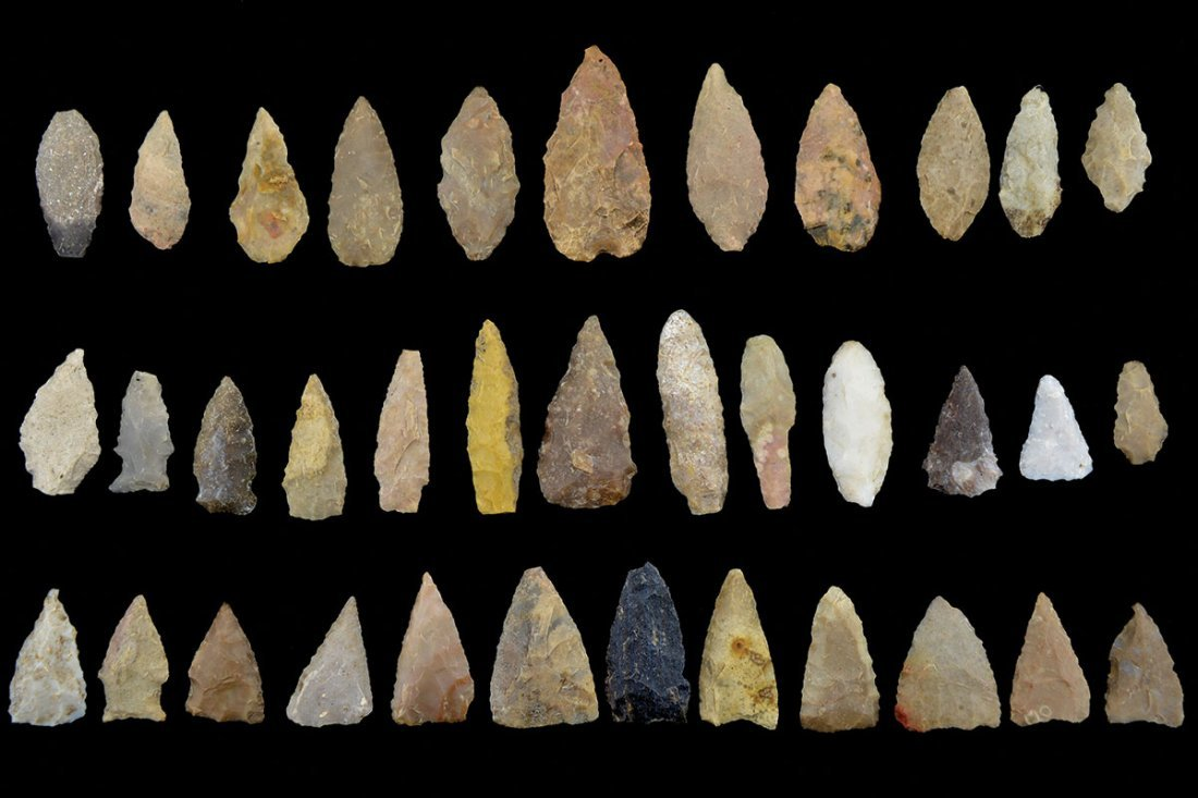 """36 Points (1""""-2 3/8"""") found on Dilworth ranch in"""