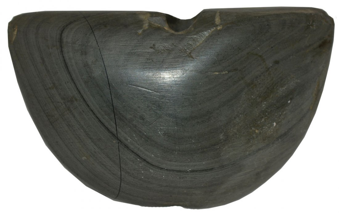 """3 5/16"""" Winged Bannerstone.  IN.  Banded slate.  Good"""