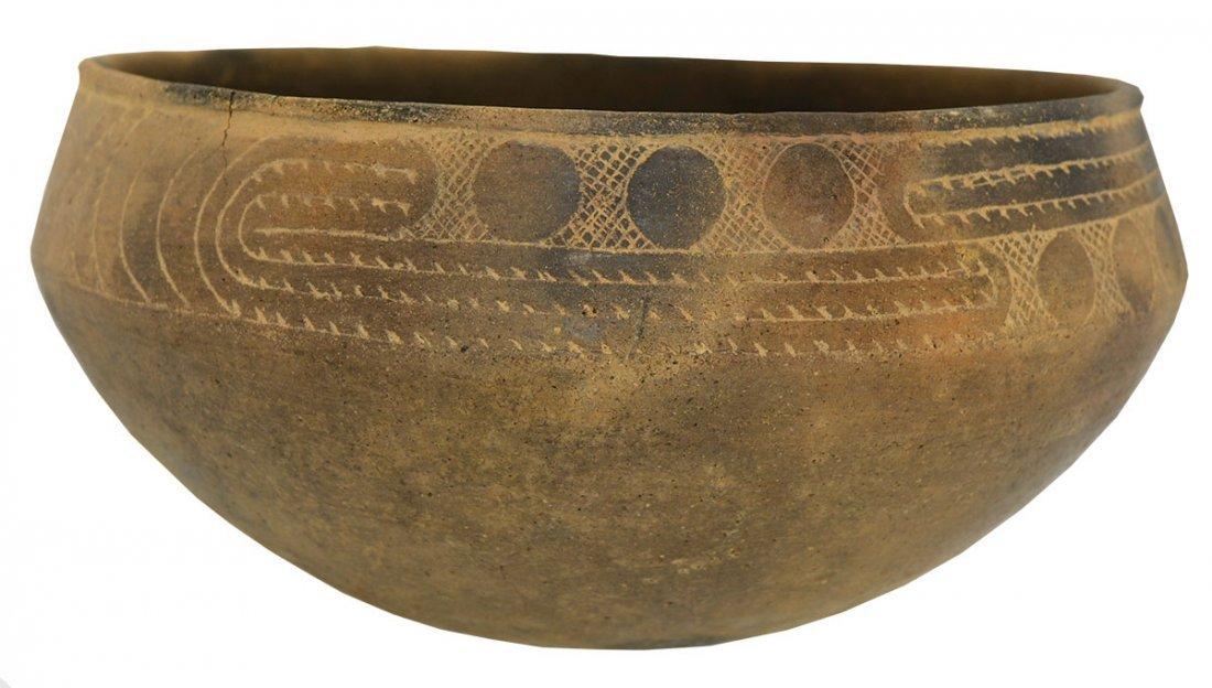 "7"" D.  Hodges Engraved Bowl.  Clark Co, AR.  Pristine,"