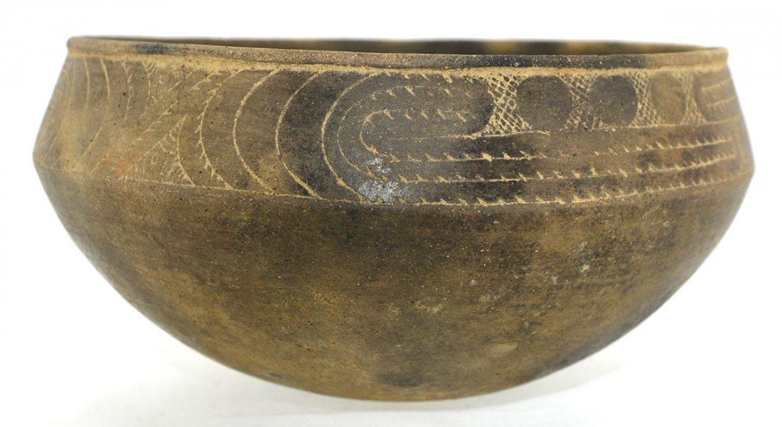 "7"" D.  Hodges Engraved Bowl.  Clark Co, AR.  Pristine, - 2"