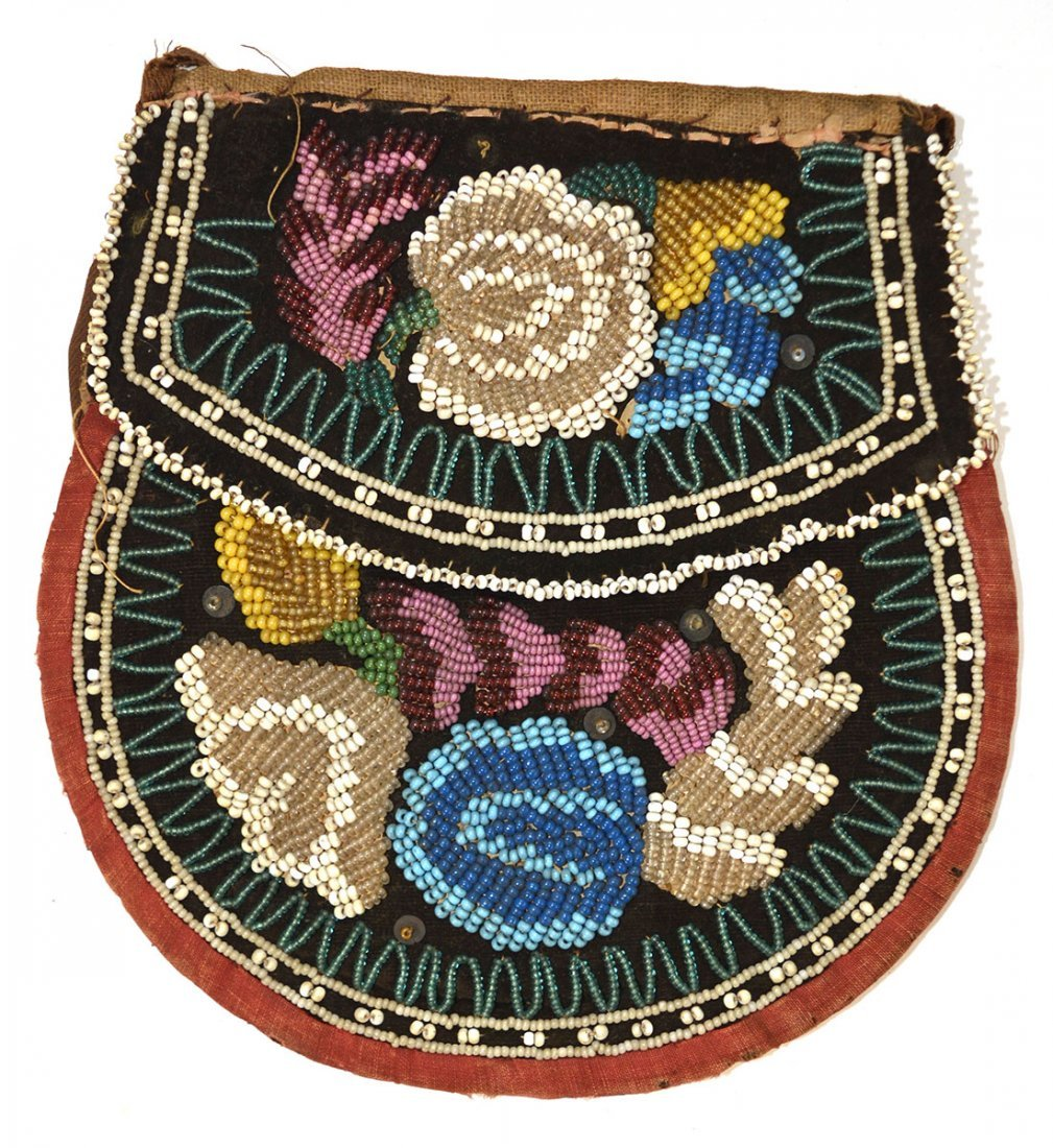 "Two Iroquois Beaded Purses (4 1/2"" & 6 3/4""  Older, - 4"