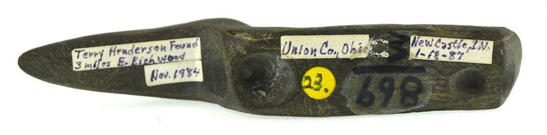 "3 15/16"" Long Beak Birdstone.  Union Co, OH (Richwood). - 3"
