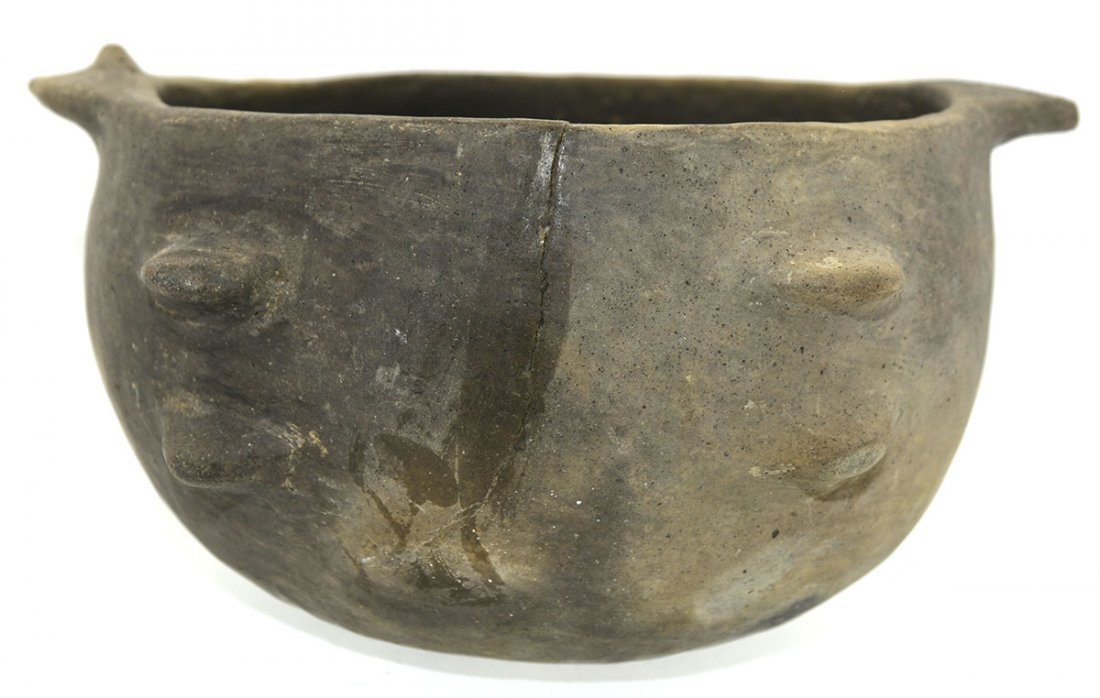 "8 1/2"" D. Mississippian Fish Effigy Bowl.  Crosskno - 5"