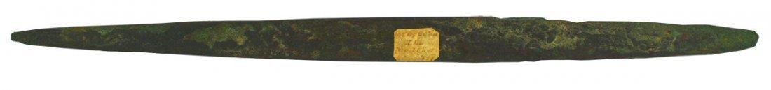 """11 1/8"""" Copper """"Spear"""" or Pick.  Morgan Co, IL"""