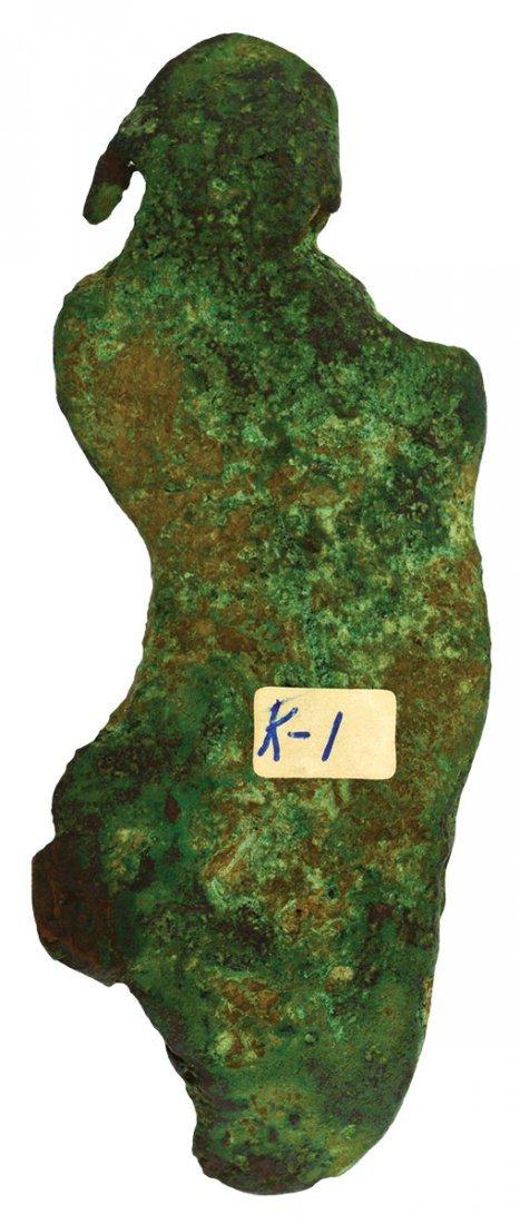"""4 1/4"""" Copper Statuette.  Ford Co, IL (near Paxton)."""