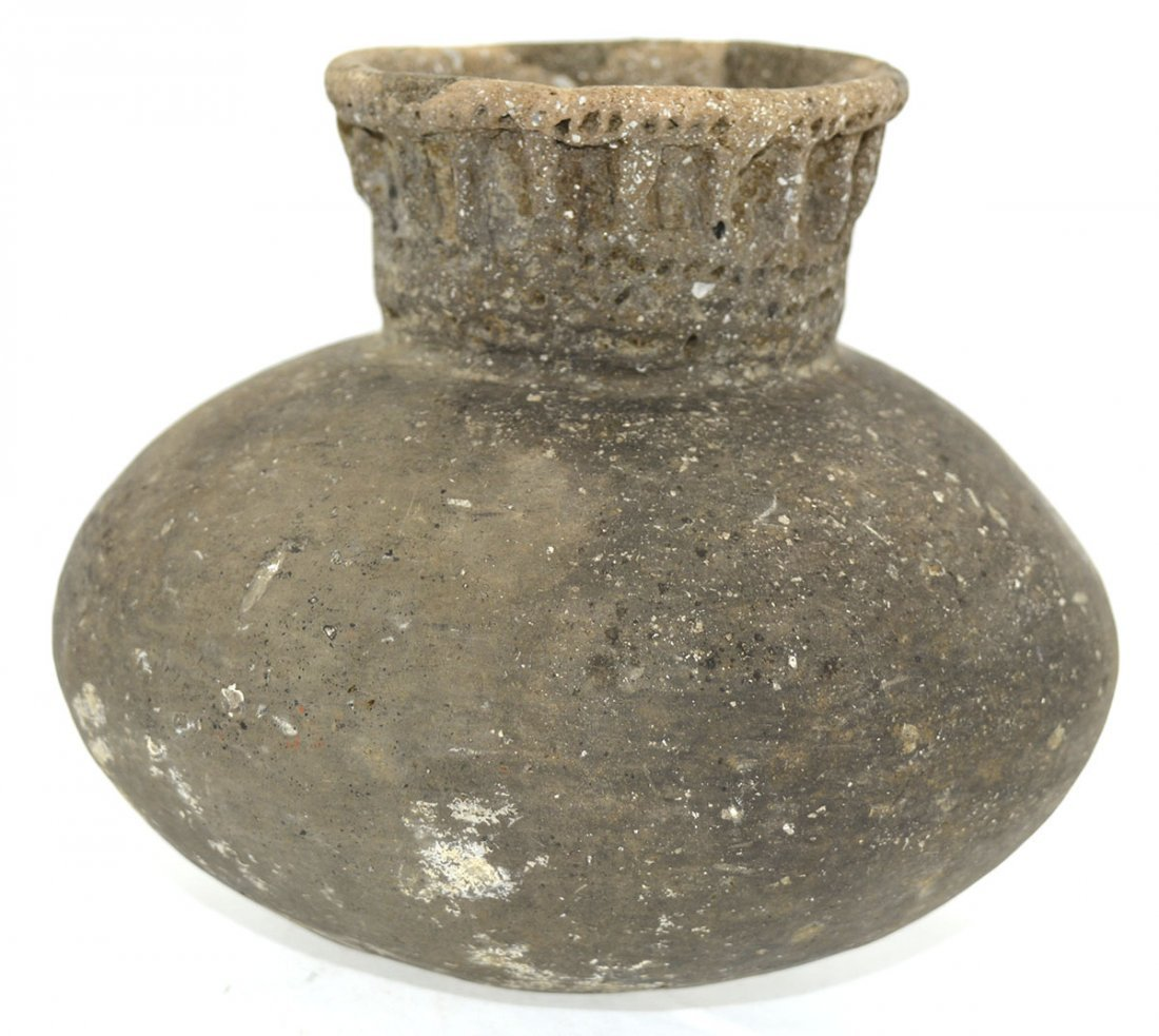"""5 1/4"""" D. Campbell Punctate Jar.  Campbell Site. - 2"""