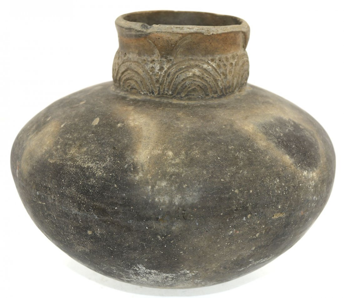 """8 1/2"""" D.  Campbell Incised Compound Jar.  Campbell - 2"""