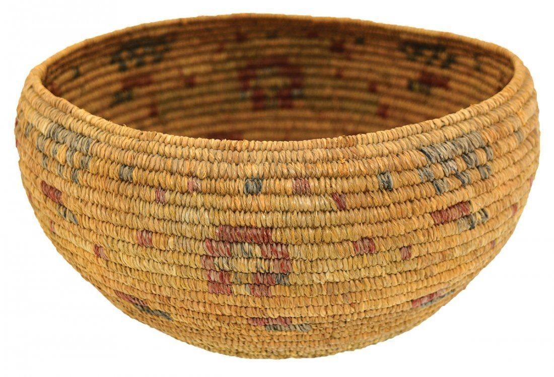 """7 3/8"""" Native American Mission  Basket.  Flawless"""