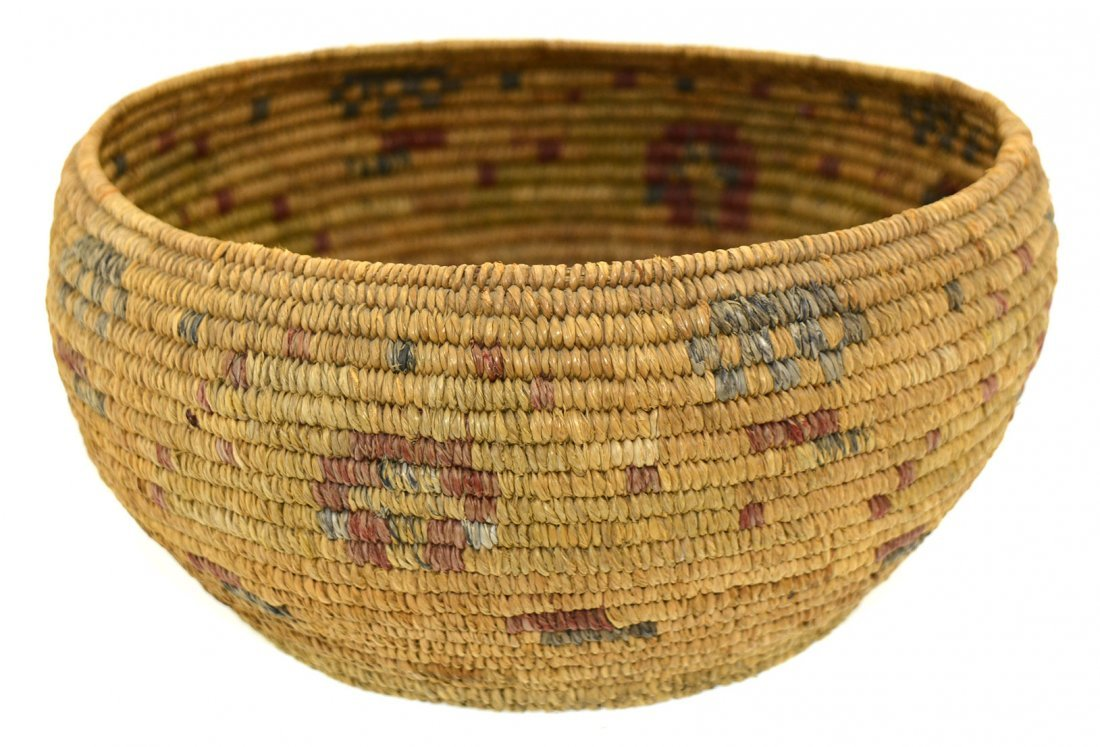 "7 3/8"" Native American Mission  Basket.  Flawless - 4"