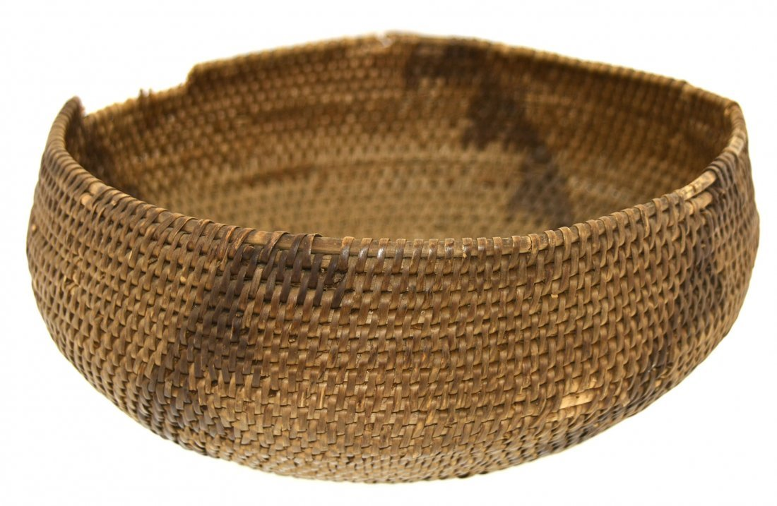 "7 3/16"" D. Eskimo Basket.  Alaska.  Hooper Bay. - 3"