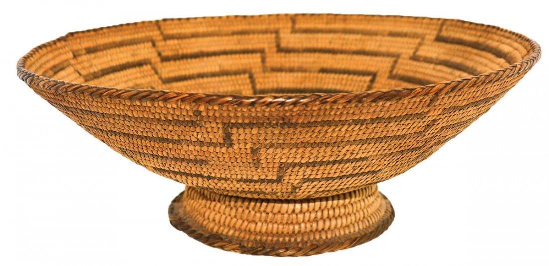 "10"" D. Native American Basket with Pedestal Base."