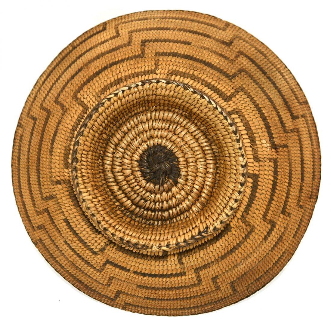 "10"" D. Native American Basket with Pedestal Base. - 2"