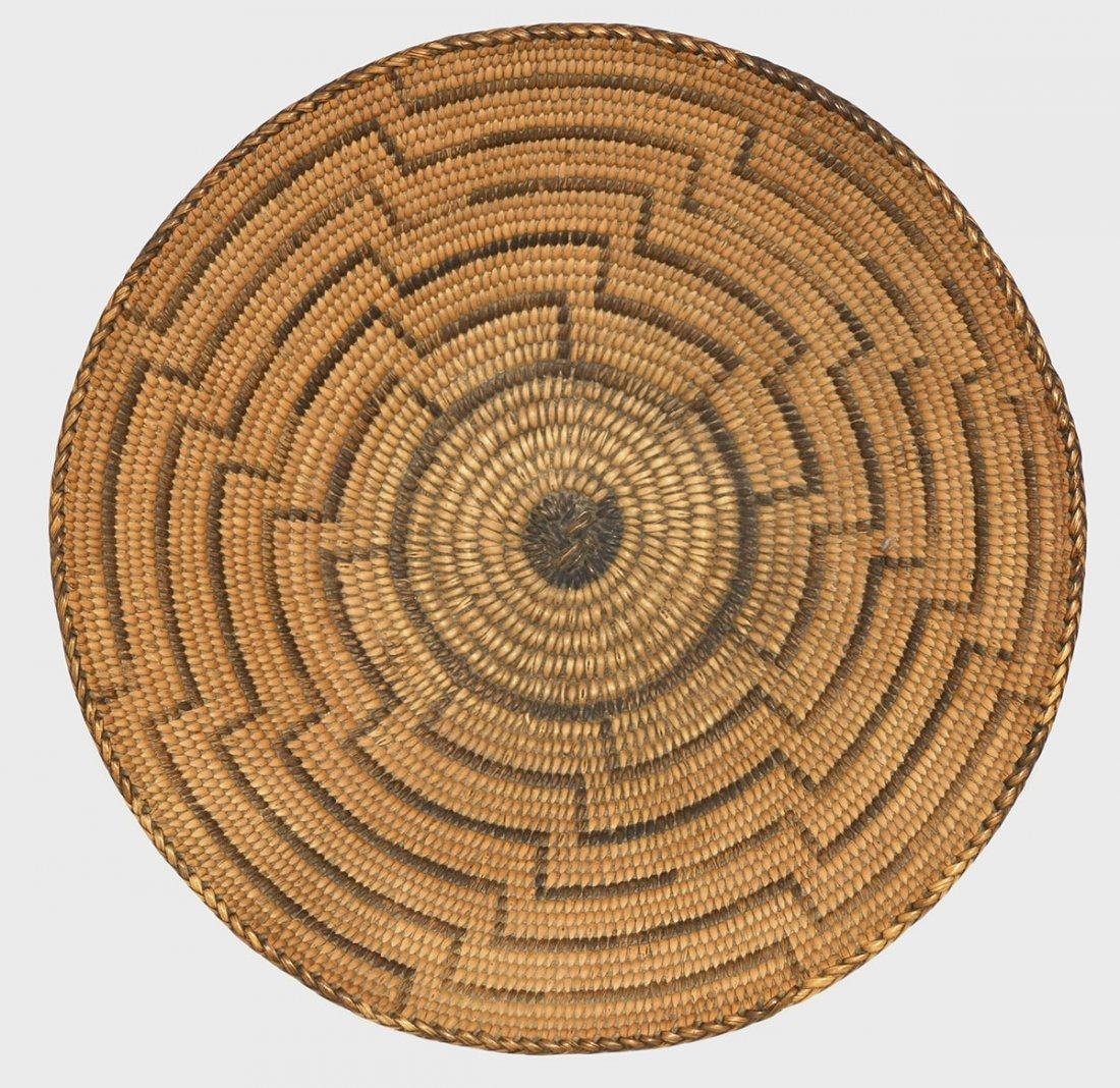 "10"" D. Native American Basket with Pedestal Base. - 3"