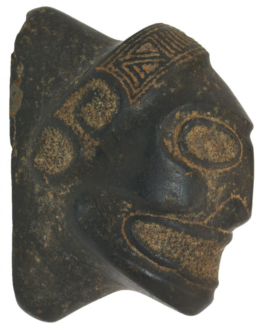 "6 1/2"" Taino Macorix Head.  Hispaniola (1200-1500 AD)."