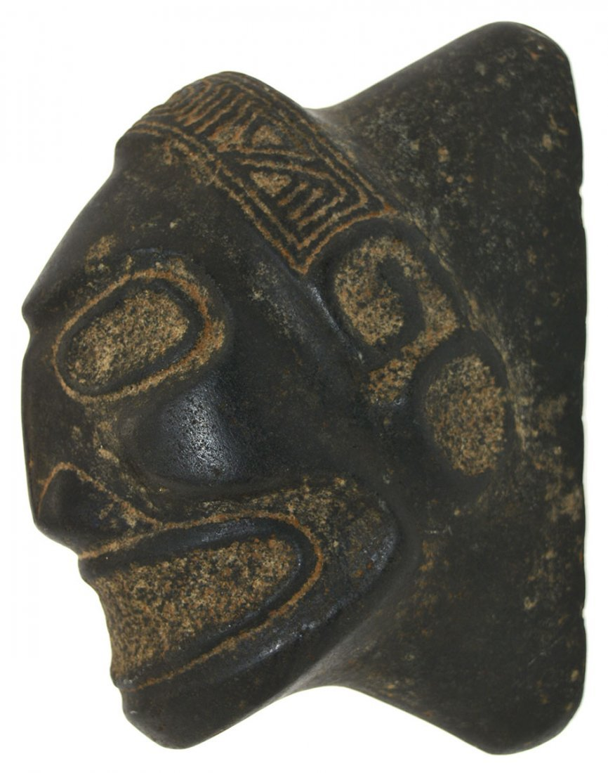 "6 1/2"" Taino Macorix Head.  Hispaniola (1200-1500 AD). - 2"