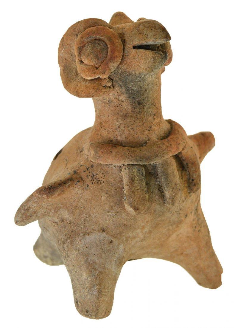 """5 1/8"""" Colima Bird Effigy Whistle.  Colima, MX.  500 BC"""