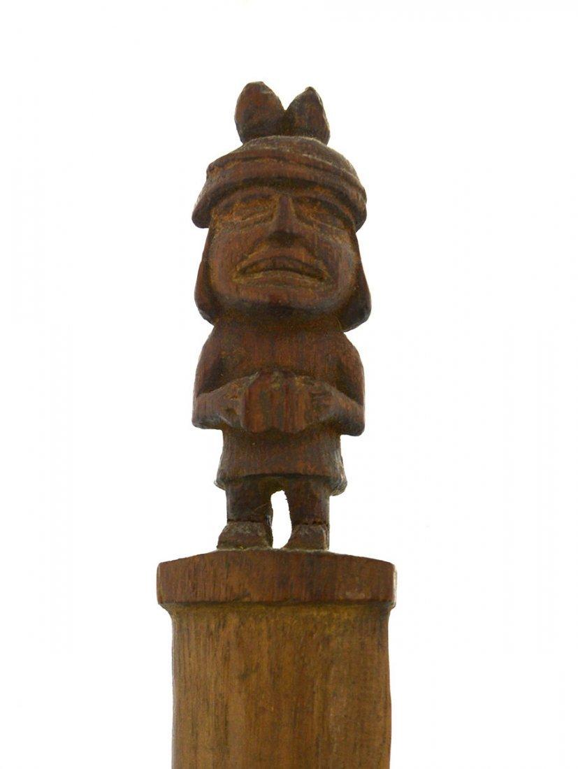 "15"" Wood Weaving Tool.  Inca (1100-1400 AD).  Peru. - 2"