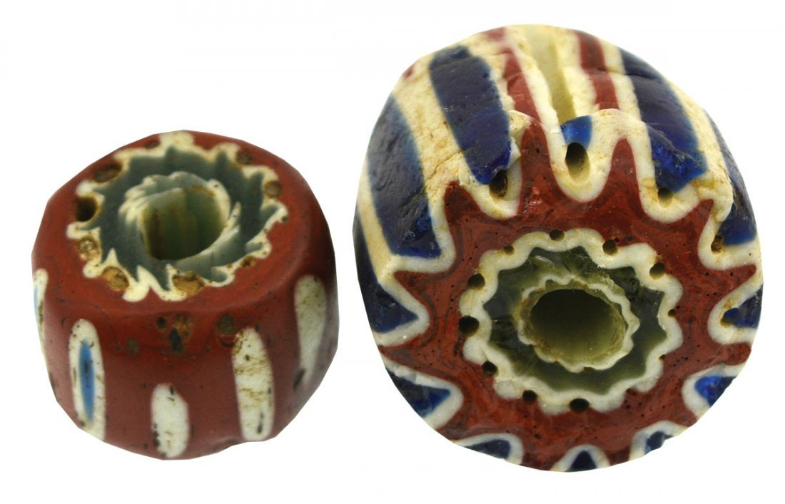 Ready made bead collection.  Two large, loose Chevron