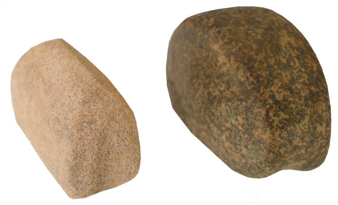 2 Grooved Boatstones.  IN & KY.  Ex-Brockman