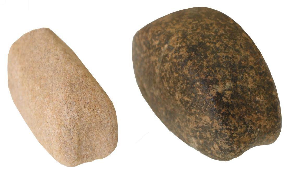 2 Grooved Boatstones.  IN & KY.  Ex-Brockman - 2