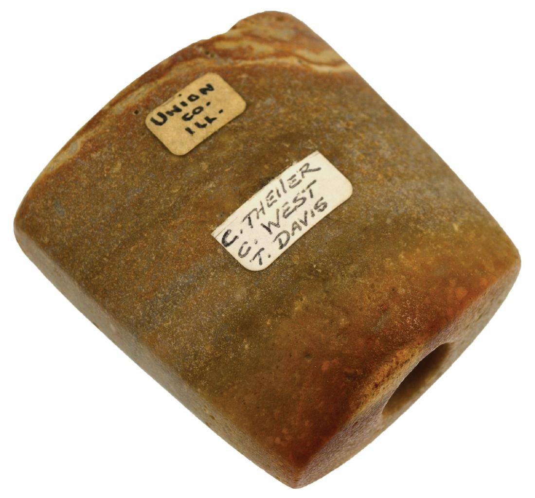 "2 3/16""  Quartz Bannerstone.  Union Co, IL.  Ex-Clyde - 2"