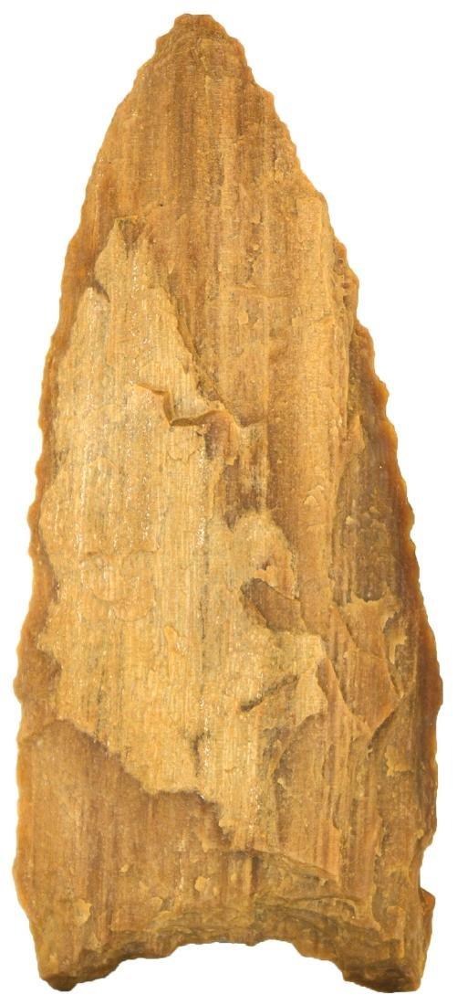 """3 13/16"""" Petrified Wood Plainview Knife. Rogers COA."""