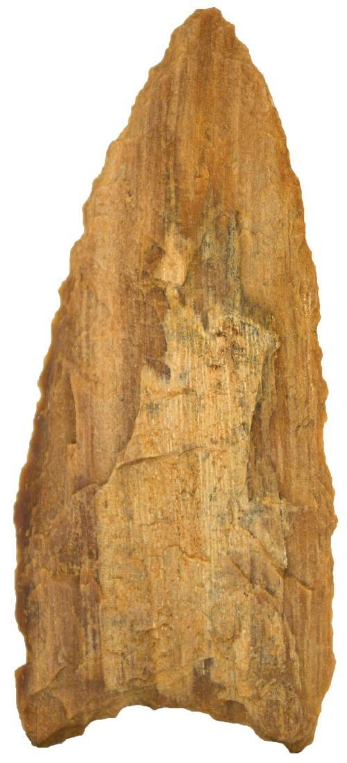"""3 13/16"""" Petrified Wood Plainview Knife. Rogers COA. - 2"""