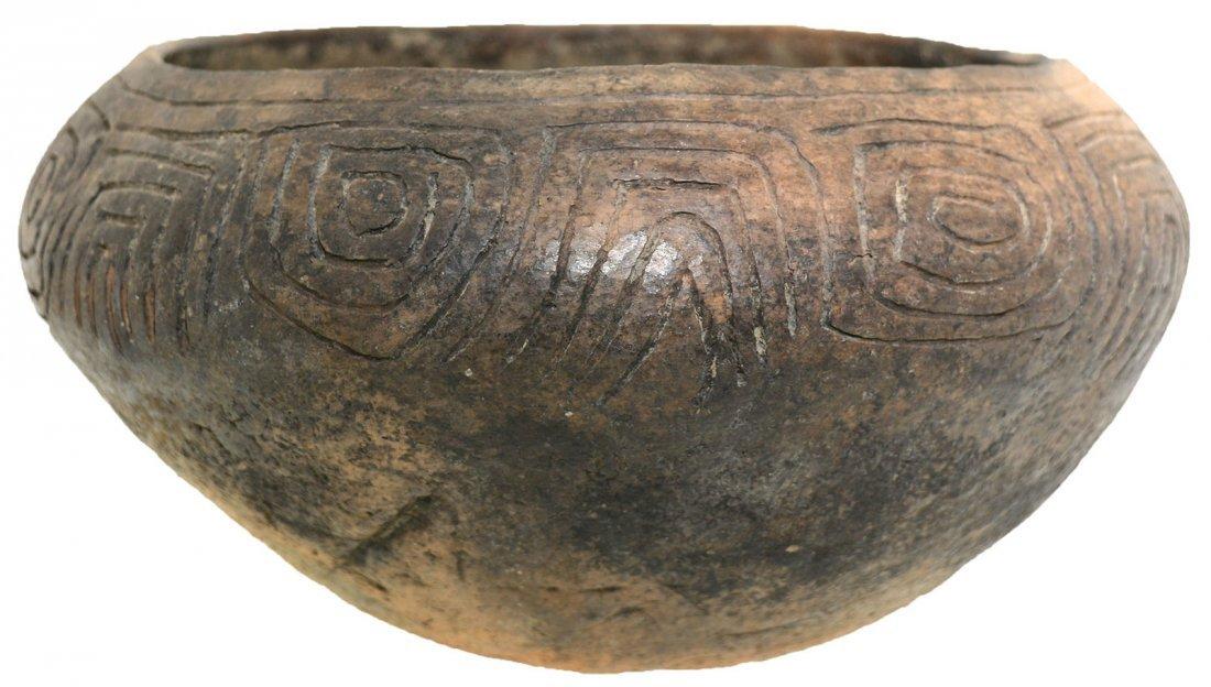 "8 1/2"" D. Three Line Engraved Bowl.  Long Island, AL."