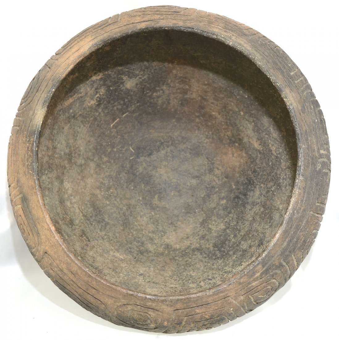 "8 1/2"" D. Three Line Engraved Bowl.  Long Island, AL. - 4"