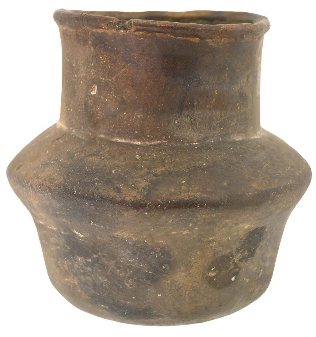 """5 1/4"""" H. Spittoon Jar.  AR.  Solid, few rim nicks."""