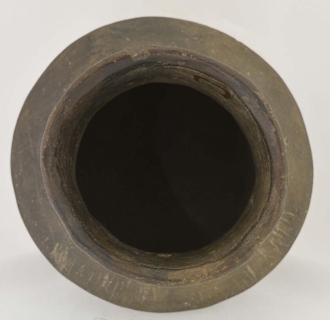 """5 1/4"""" H. Spittoon Jar.  AR.  Solid, few rim nicks. - 3"""