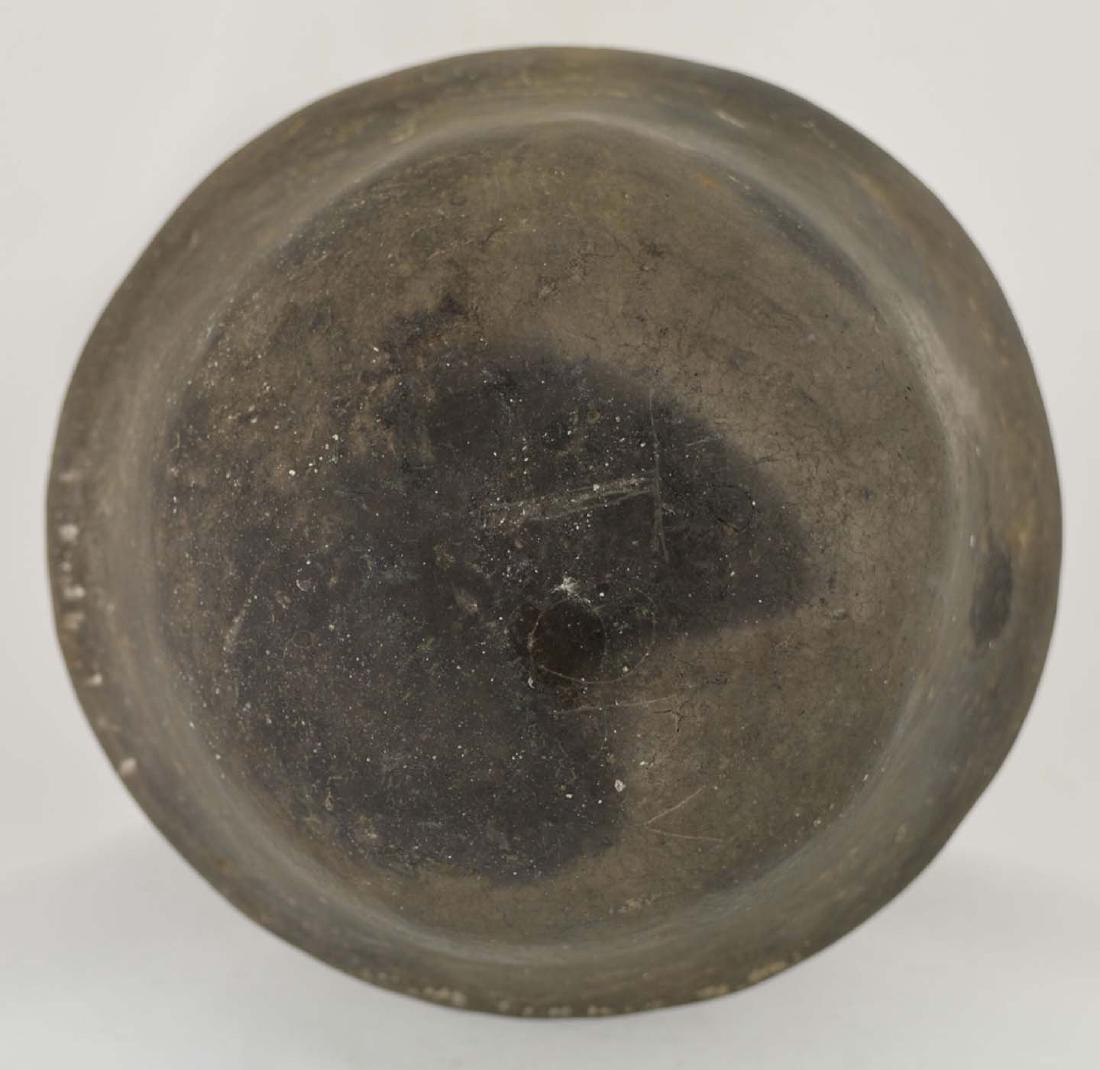 """5 1/4"""" H. Spittoon Jar.  AR.  Solid, few rim nicks. - 4"""