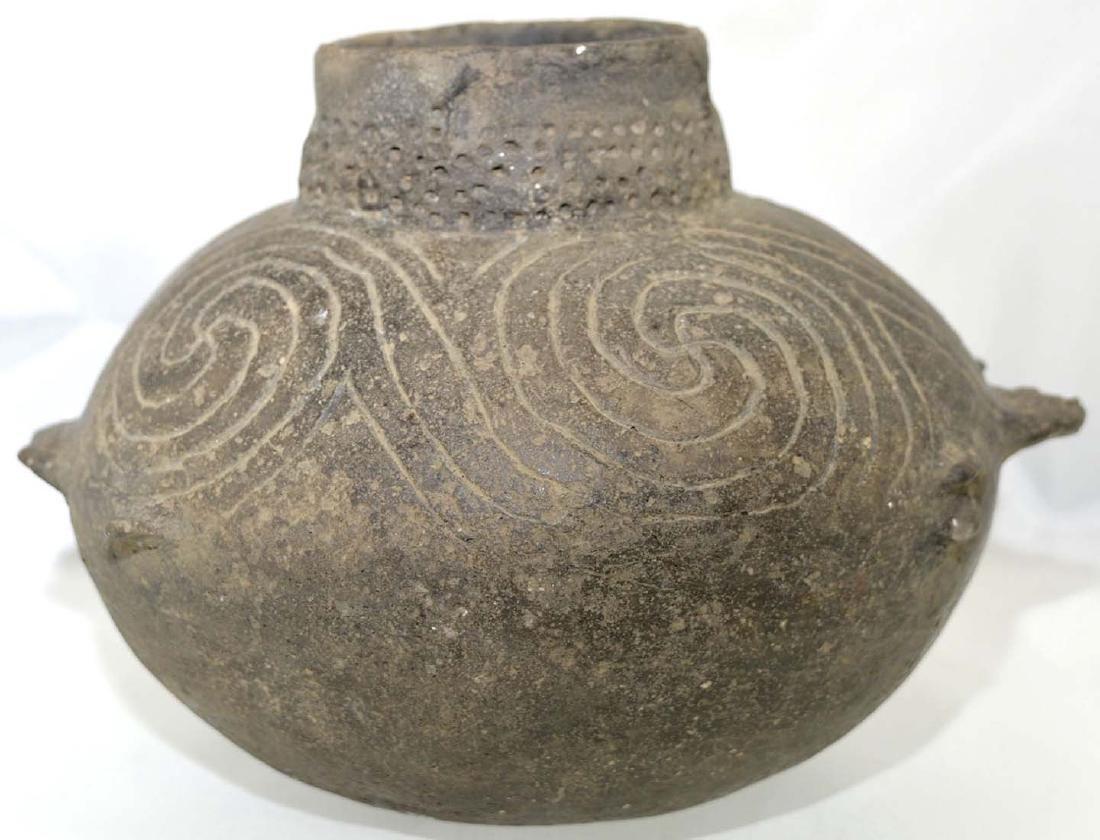 """7 7/8"""" D. Engraved Fish Effigy Bowl.  Pemiscot Co, MO. - 4"""
