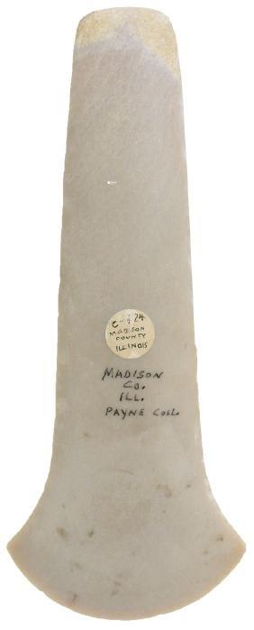 "7 15/16"" Polished Flint Spud.  Madison Co, IL.  Ex-B.W."