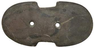 4 716 Constricted Center Gorget  Wood Co OH  Brown