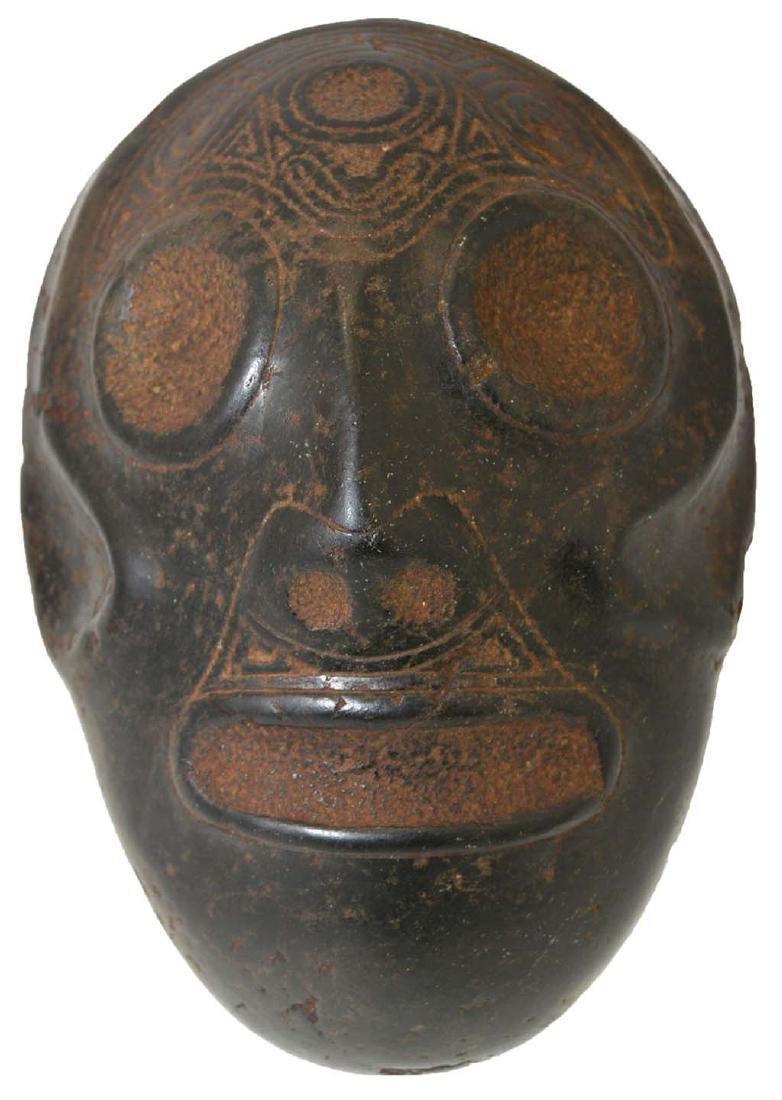 "7"" Taino Ancestor Stone Face.  Hispaniola.  1200-1500"