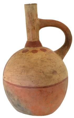 """9 1/2"""" H. Moche Stirrup Waterbottle.  Peru.  100-800"""
