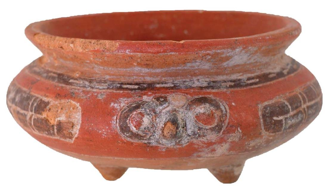 """6"""" D. Turtle Effigy Bowl.  Costa Rica.  Nicely painted"""