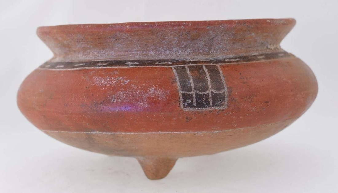 """6"""" D. Turtle Effigy Bowl.  Costa Rica.  Nicely painted - 2"""