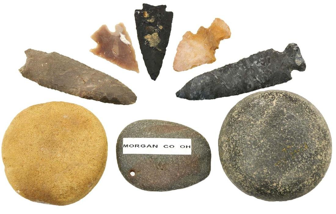 The remainder of the Guckert Collection:  12 Artifacts